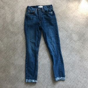 Re/Done Jeans - Re/Done Levi Orig. High Rise Skinny Crop W25